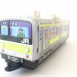 Green Tin Train medium _Ichiko_Japan 70s