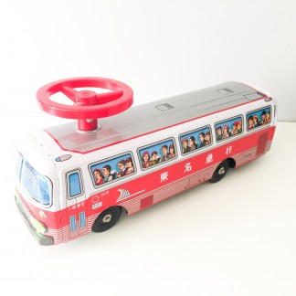 Ichiko Ride on Tinplate bus_Ichiko Japan 60's-70's