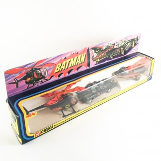 BATMAN batmobile batcopter batboat - Corgi Gift set 40 - 1976