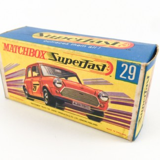 Racing Mini Matchbox 29 -box only-Type G