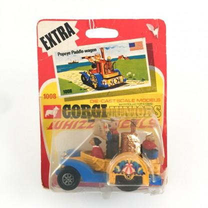 Popeye Paddle-Wagon Whizzwheels-Corgi Juniors 1008 -1971