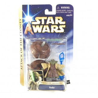 YODA battle of Geonosis -star wars- Saga Collection gold stripe