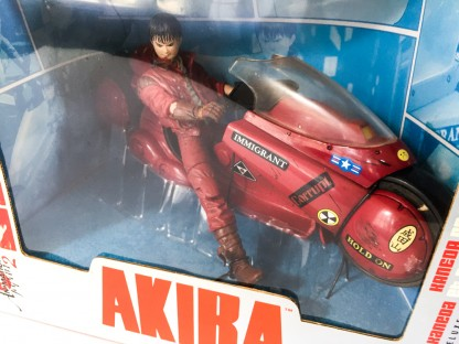 Kaneda on motorcycle