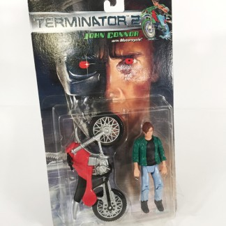 Terminator 2 T2 Judgment Day Movie - John Connor By Kenner 1991. Includes Motorcycle