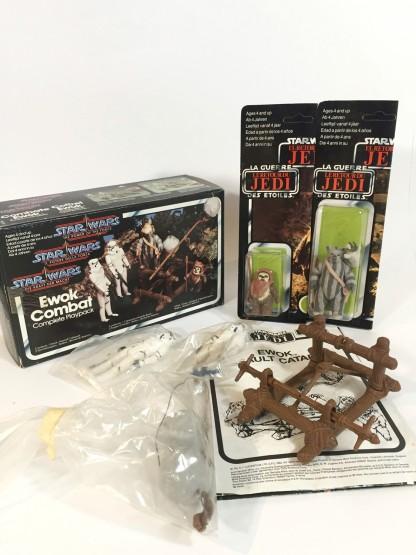 EWOK COMBAT playpack - 1984 TRI-LOGO Palitoy _ General Mills _ Kenner