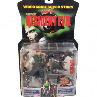 Resident Evil Chris Redfield With Cerberus - 1998 Toy BIZ